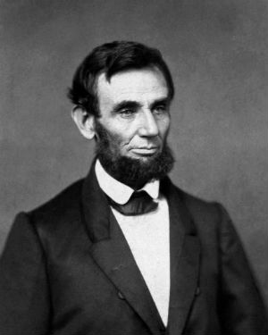 Portrait of Abraham Lincoln who Lincoln got their name from